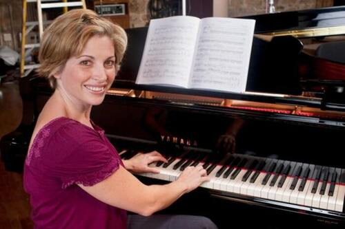 Christie Peery teaches classical piano