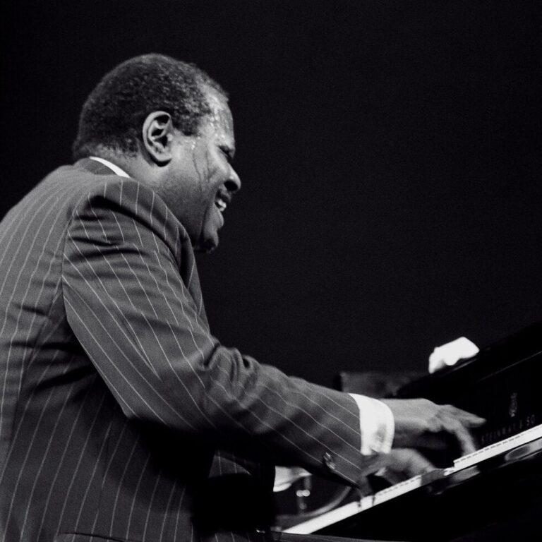 famous black piano player Oscar Peterson
